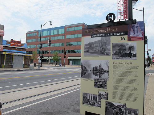 H Street Heritage Trail Sign