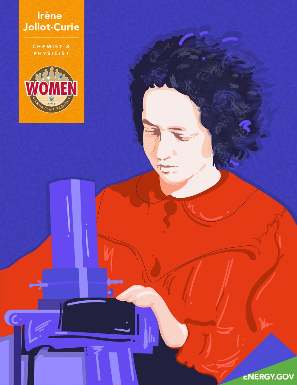 Irene Joliot Curie illustration
