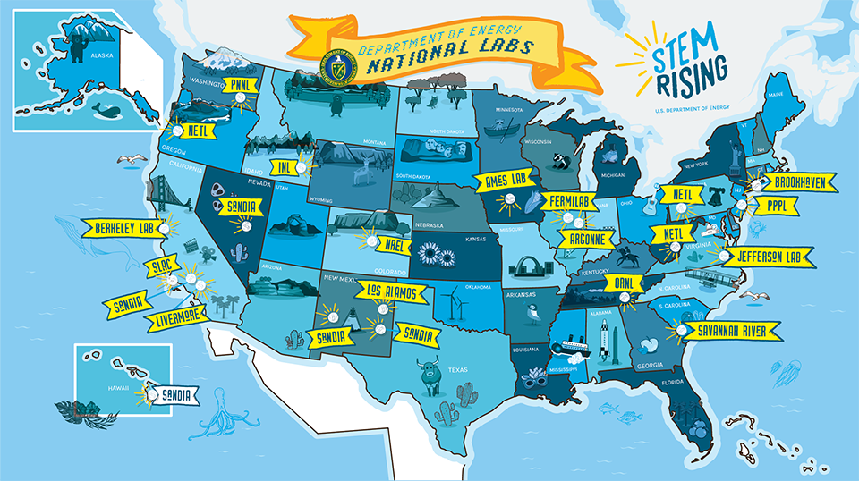 STEM Rising National Lab map