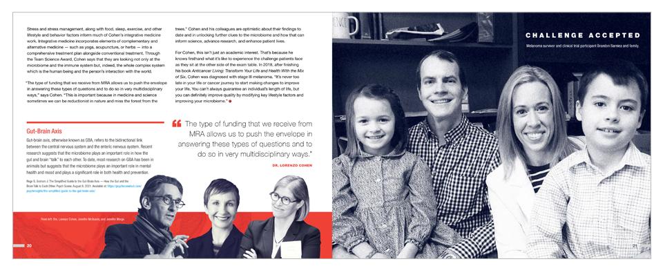 MRA annual report spread