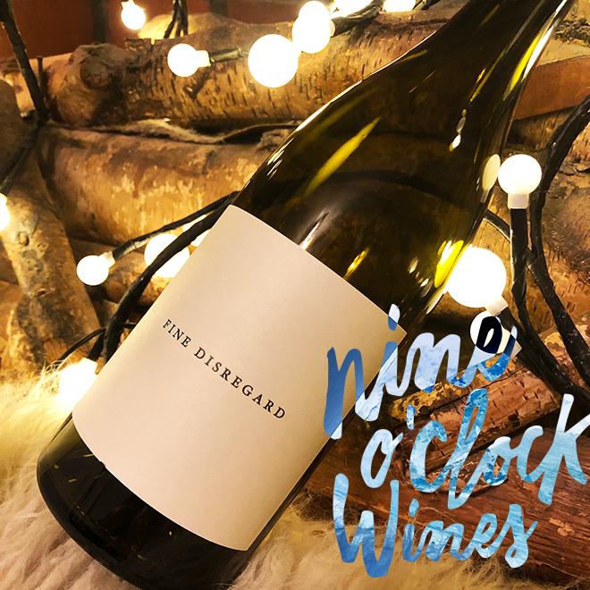 Nine O'Clock Wines: bottle and logo